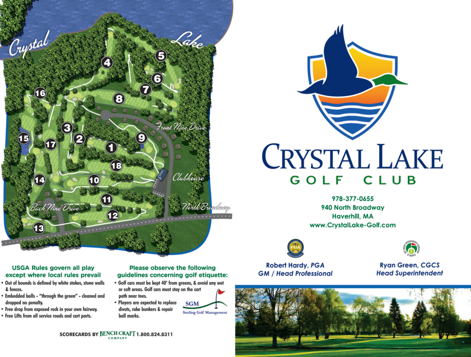 Scorecard Info Course Map Crystal Lake Golf Club